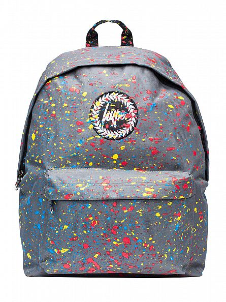 Hype Grey (Blue/Yellow/Red) Primary Speckle Splat Logo Backpack