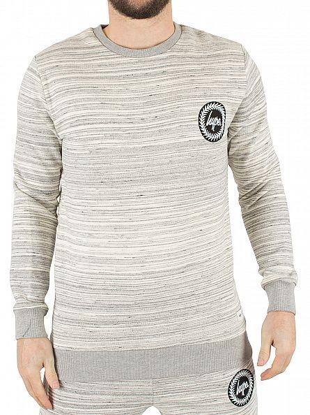 Hype Slate Striped Crest Logo Sweatshirt