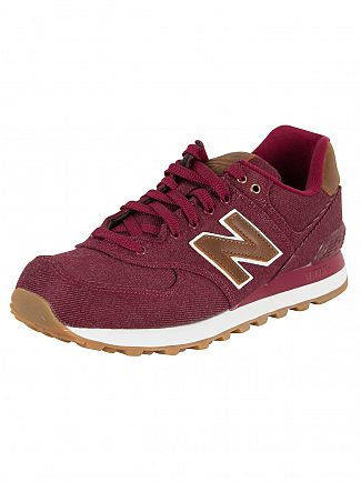 New Balance Burgundy/Brown 574 Trainers