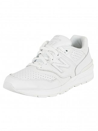 New Balance White 597 Trainers