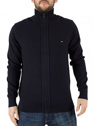 Tommy Hilfiger Midnight Adrien Logo Knit Jacket