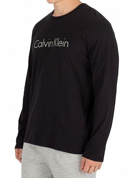 Calvin Klein Black Longsleeved Logo T-Shirt