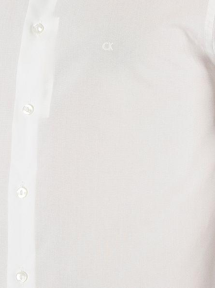 Calvin Klein White Slim Fit Bari Shirt