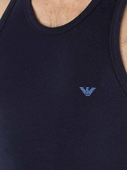 Emporio Armani Navy Plain Logo Vest