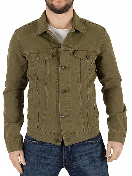 Levi's Green Trucker Foxtrot Denim Jacket