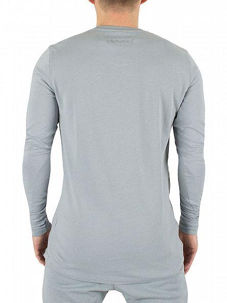 11 Degrees Slate Longsleeved Core Logo T-Shirt