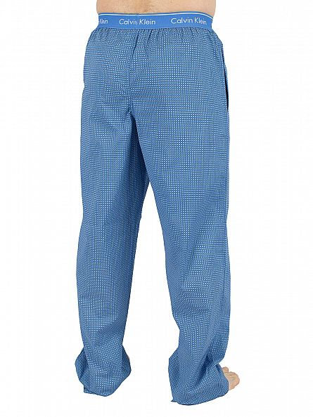 Calvin Klein Light Blue All Over Pattern Logo Pyjama Bottoms