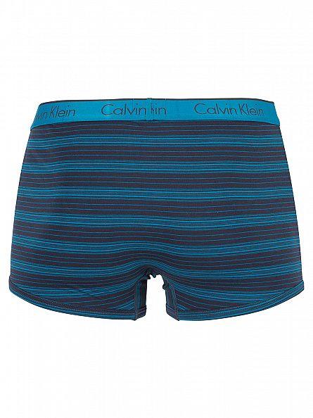 Calvin Klein Navy/Blue CK One Stripe Logo Trunks