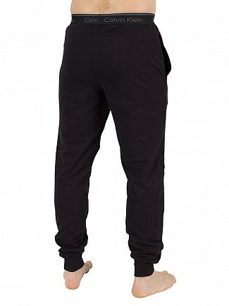 Calvin Klein Black Plain Logo Waistband Pyjama Bottoms