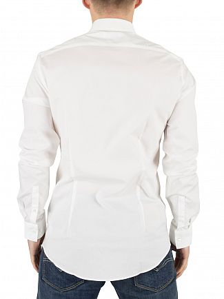 Calvin Klein White Slim Fit Bari Shirt