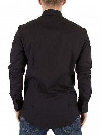 Calvin Klein Black Slim Fit Bari Shirt