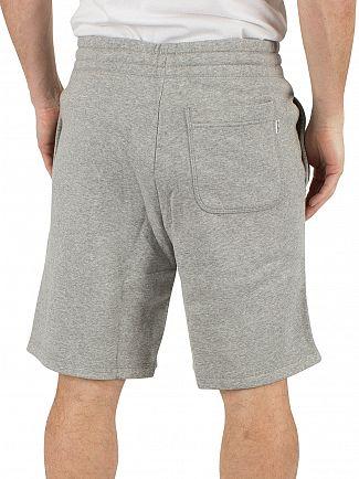 Converse Vintage Grey Heather Core Logo Marled Sweat Shorts