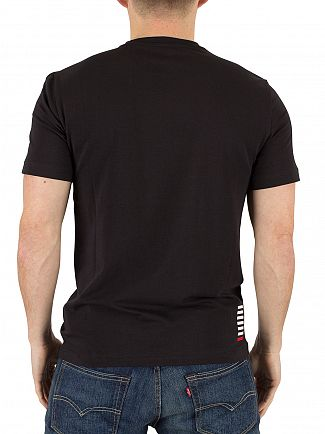 Emporio Armani Black EA7 Logo T-Shirt