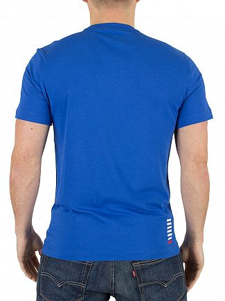 Emporio Armani Royal Blue EA7 Logo T-Shirt