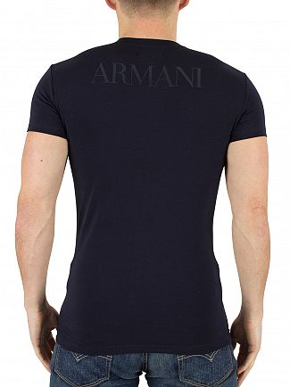 Emporio Armani Navy Graphic Logo T-Shirt