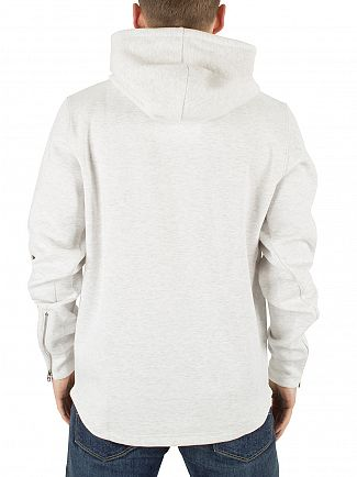 G-Star White Heather/Milk Calow Marled Logo Hoodie