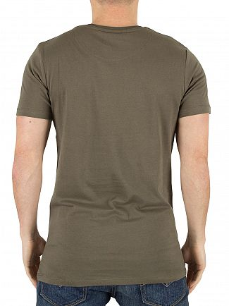 Hype Khaki Basic Graphic Logo T-Shirt