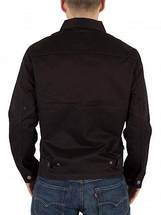 Levi's Black Harrington Trucker Denim Jacket