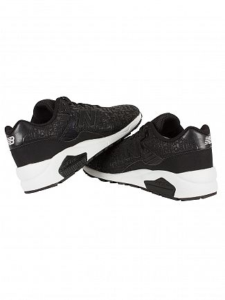 New Balance Black/White 580 Trainers