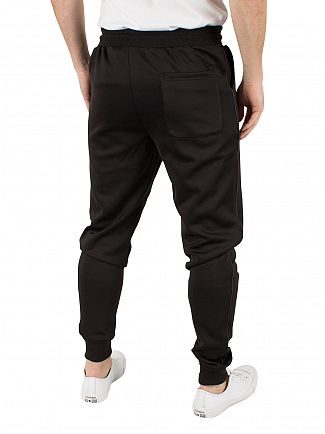 Sik Silk Black Poly Tricot Cuff Joggers