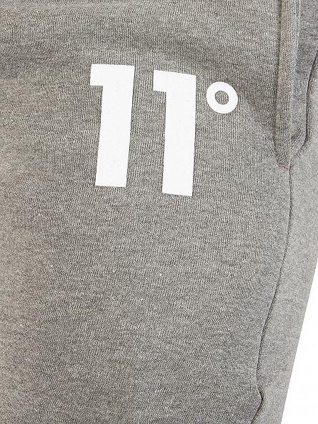 11 Degrees Charcoal Core Logo Marled Joggers