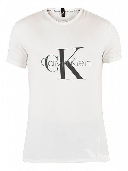 Calvin Klein White CK Graphic T-Shirt