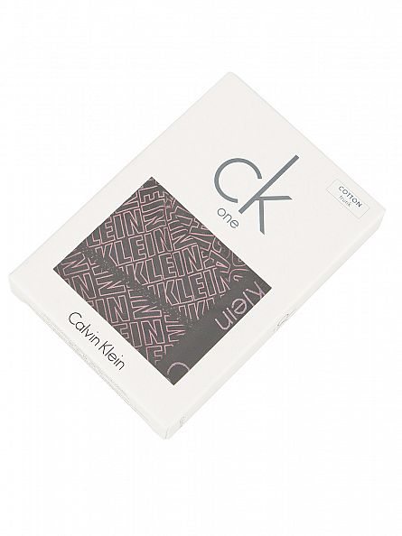 Calvin Klein Black/Pink CK One All Over Logo Trunks