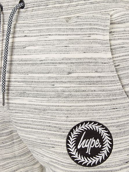 Hype Slate Striped Crest Logo Joggers
