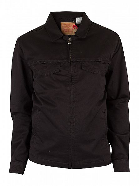 Levi's Black Harrington Trucker Denim Jacket