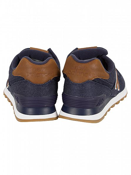 New Balance Navy/Brown 574 Trainers