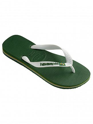 Havaianas Amazonia Brasil Logo Flip Flops