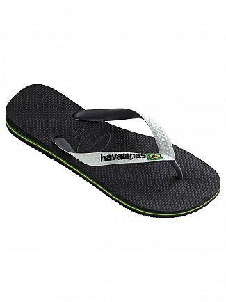 Havaianas Black/White Brasil Mix Flip Flops