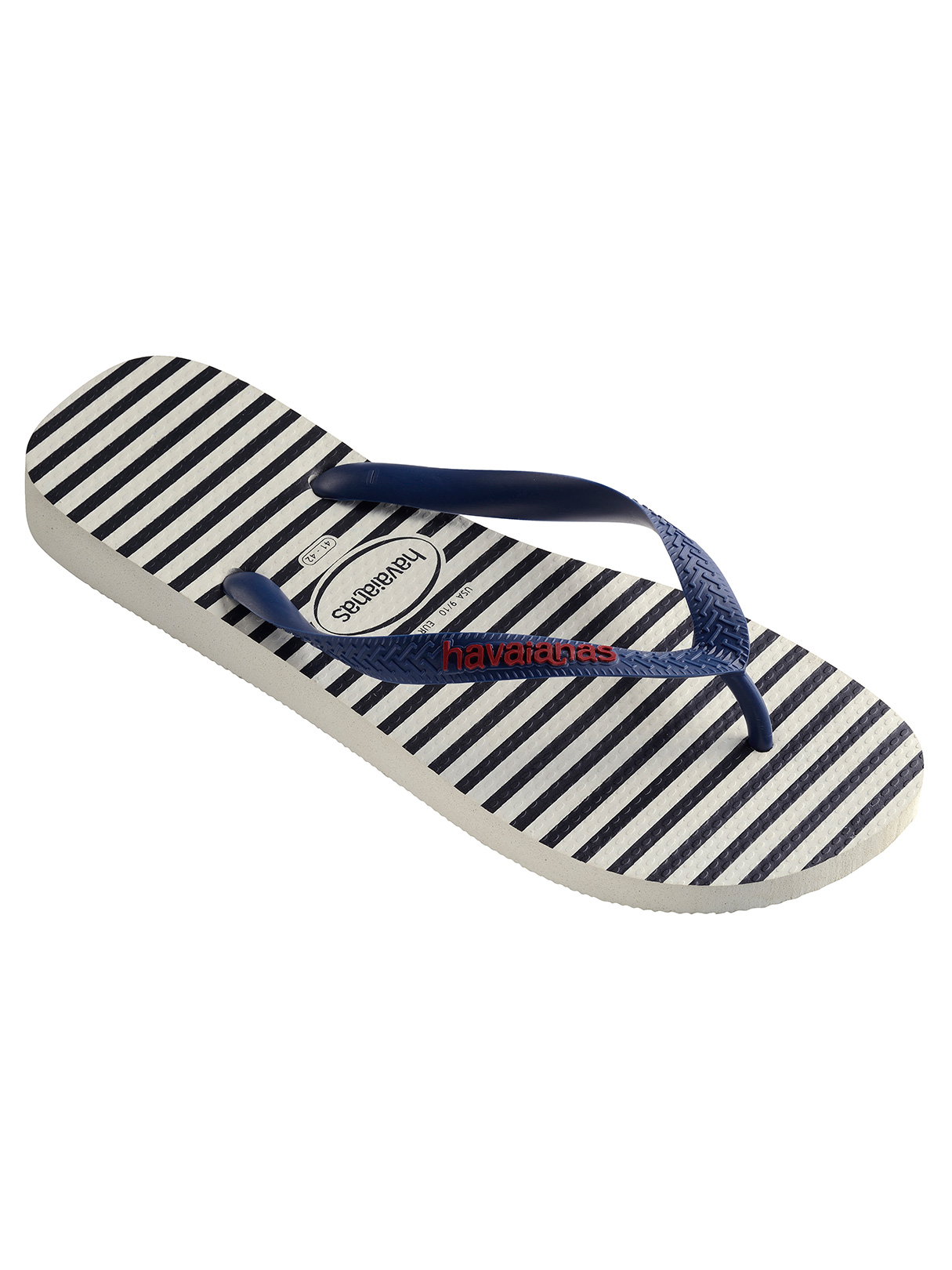 Havaianas White/Navy Top Nautical Flip Flops