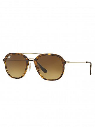 Ray-Ban Tortoise/Gold Injected Sunglasses