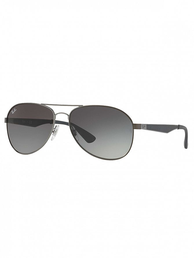 Ray-Ban Grey Metal Sunglasses