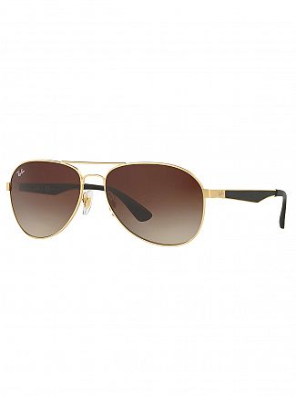 Ray-Ban Gold/Black Metal Sunglasses