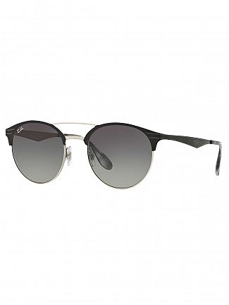 Ray-Ban Black/Silver Metal Sunglasses