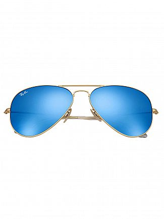 Ray-Ban Gold/Blue Metal Sunglasses