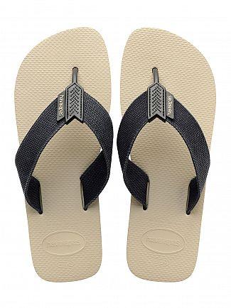 Havaianas Beige/Black Urban Basic Flip Flops