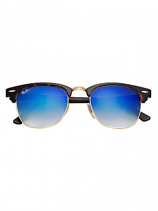Ray-Ban Brown/Blue Clubmaster Acetate Sunglasses