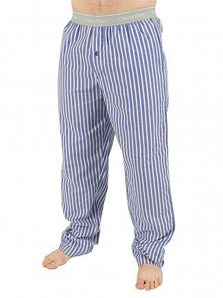Calvin Klein Prussian Blue/White Bristol Stripe Logo Pyjama Bottoms