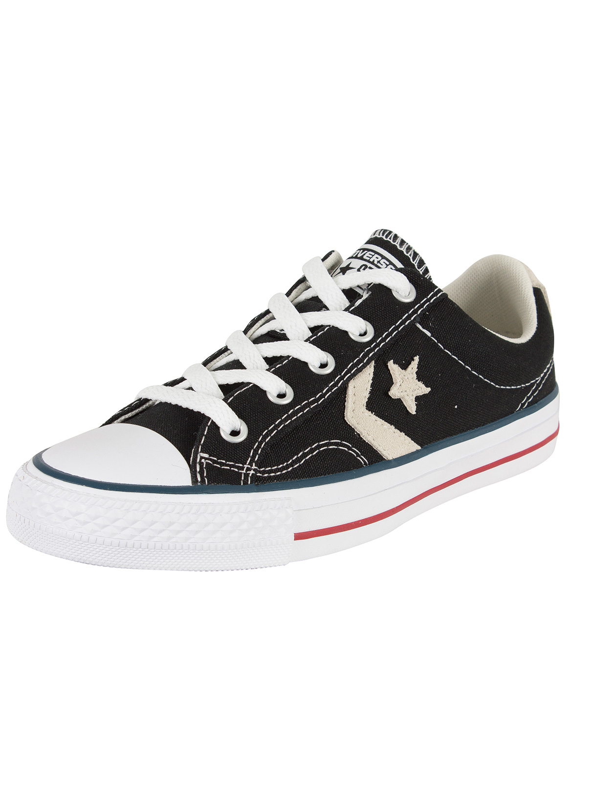 3e13dfa54332 Converse Black Milk Star Player OX Trainers