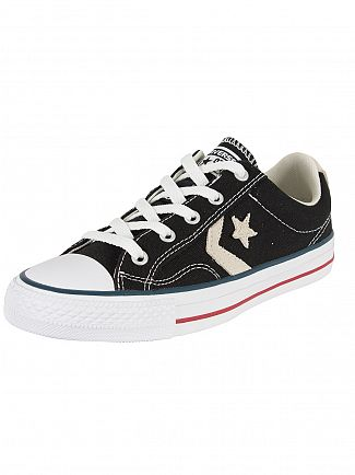 Converse Black/Milk Star Player OX Trainers