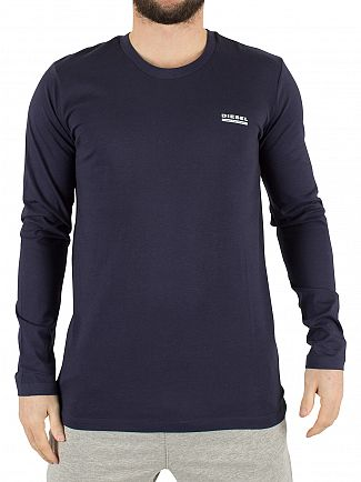 Diesel Navy Longsleeved Justin Logo T-Shirt