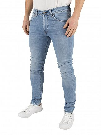 EDWIN LIGHT TRIP USED ED-85 SLIM TAPERED JEANS