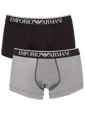 Emporio Armani Blue/White 2 Pack Polka Dot Trunks