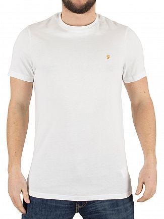 Farah Vintage White Denny Slim Solid Logo T-Shirt
