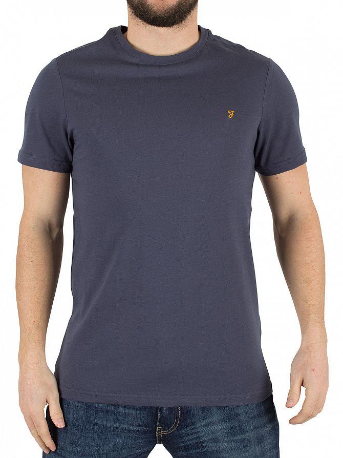 Farah Vintage Navy Denny Slim Solid Logo T-Shirt