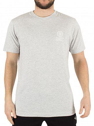 Franklin & Marshall Light Grey Melange Left Chest Logo T-Shirt