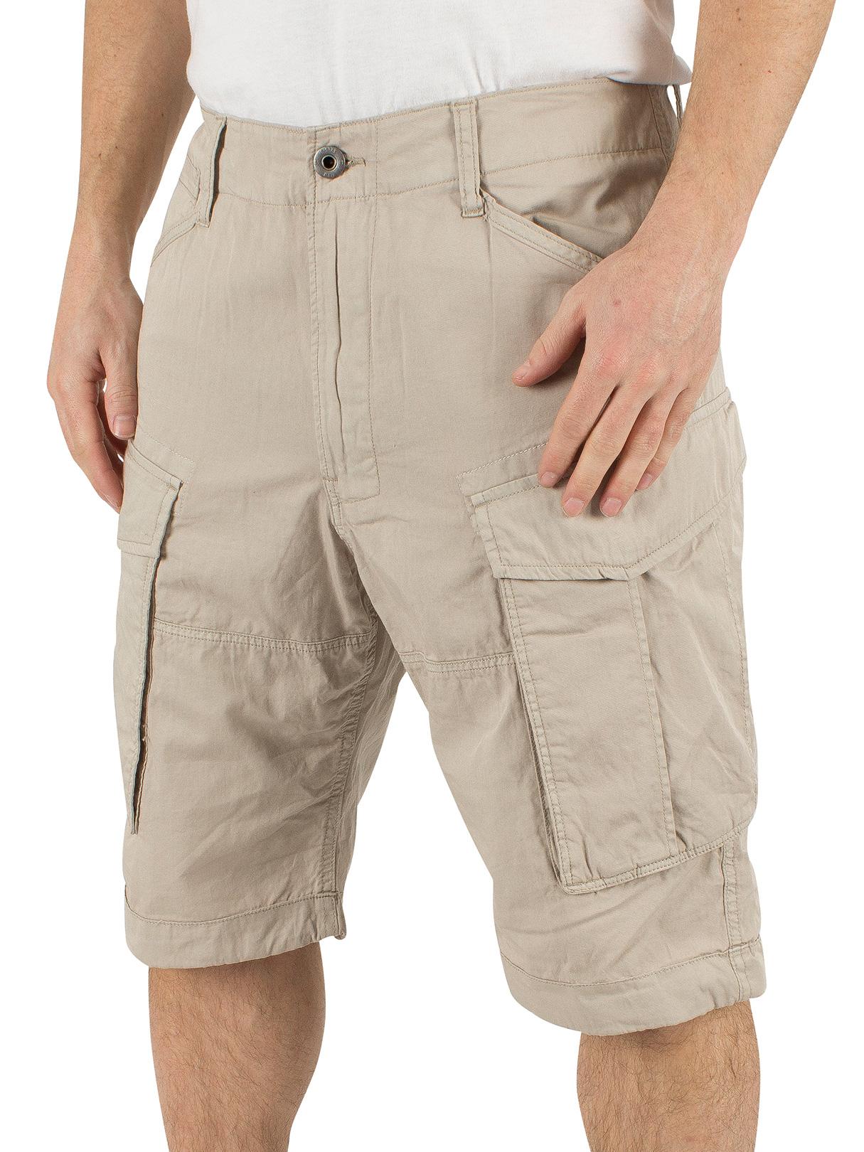 g star men 39 s rovic loose fit cargo shorts beige ebay. Black Bedroom Furniture Sets. Home Design Ideas